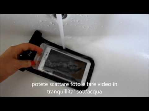 Custodia cover impermeabile trasparente per piscina mare spiaggia neve smartphone Pictek