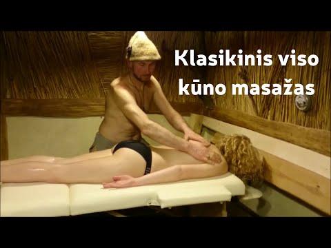 Atliekant masažas hipertenzinės ligos