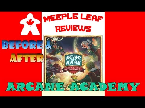 Meeple Leaf Reviews: Arcane Academy - Before & After