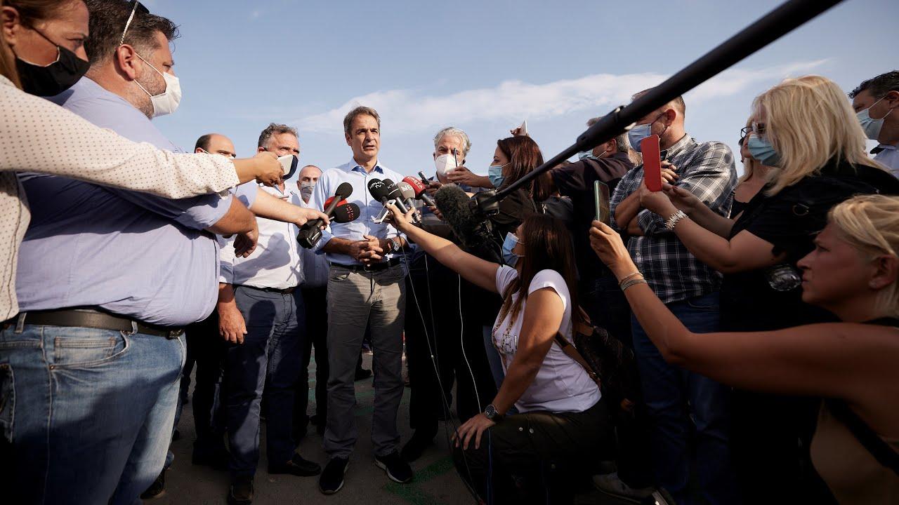 Δήλωση του Πρωθυπουργού Κυριάκου Μητσοτάκη μετά την επίσκεψη και τη σύσκεψη στο Αρκαλοχώρι