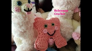 Crochet Quick Easy Beginner Amigurumi Tooth Fairy Pillow DIY Video Tutorial
