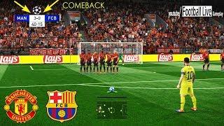 PES 2019   Manchester United Vs Barcelona   Messi Free Kick Goal   UEFA Champions League - UCL