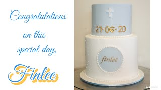 Baptism Cake For Finlee || Home Baking Vlog