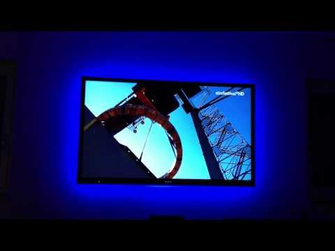 Sony KDL-65HX925 mit 5m RGB LED Stripes - aufgenommen mit iPhone 4s