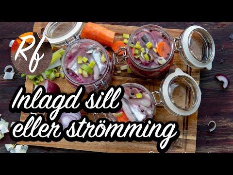 Hur du lägger in sill eller strömming från grunden. Du kan använda färska eller frysta tinade filéer av sill eller strömming. Sillen gravas eller saltas först och sedan läggs den in en stark ättikslag samt vidare i den vanliga 1-2-3 - ättikslagen.>