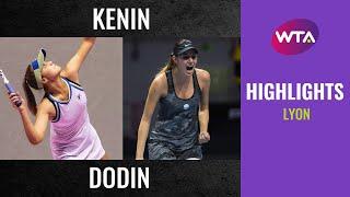 Sofia Kenin vs. Oceane Dodin | 2020 Lyon Quarterfinal | WTA Highlights
