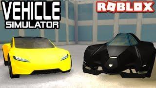 Tesla Roadster 2.0 VS Lambo Egoista in Vehicle Simulator! | Roblox