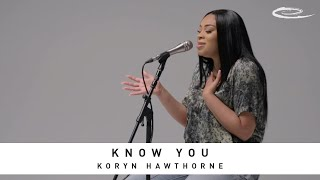KORYN HAWTHORNE - Know You: Song Session