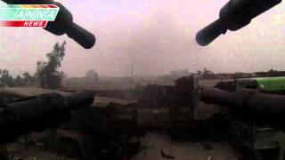 Сирия. Зенитка против позиций террористов. The antiaircraft gun against positions of terrorists
