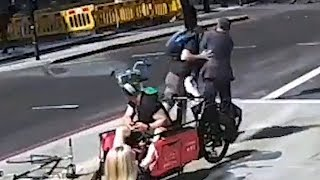 video: Video: Hunt for 'Holborn headbutter' who attacked City worker after confrontation over bike
