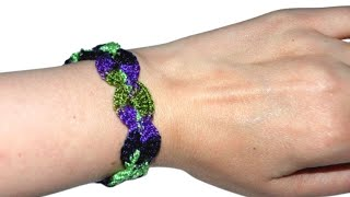 How To Crochet A Shell Bracelet Tutorial - Crochet Jewel
