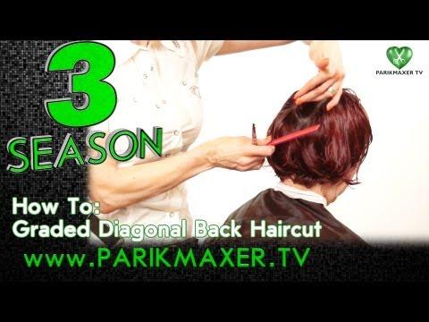 Короткая градуированная стрижка. Graded back haircut parikmaxer tv парикмахер тв