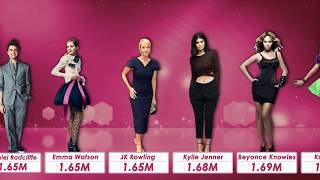 Celebrity Height comparison 2018
