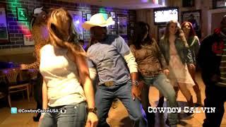Cowboy Calvin Line Dancing @ The Bullshed Bakersfield, CA