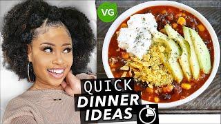 EASY 15-MINUTE VEGAN DINNER IDEAS! [Tasty & Quick]