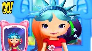 Земляничка Праздничные прически Путешествие в Нью-Йорк игра для Девочек Мультфильм на Русском Языке