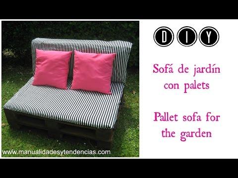 DIY: Sofá de jardín de palets / Pallet sofa for the garden