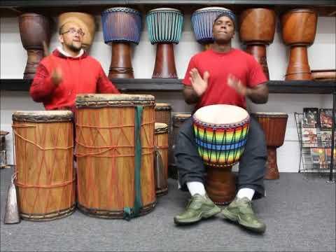 Drumskull Drums & Bumpitythump Drummers - Ivory Coast Iroko Djembe
