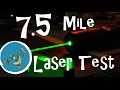 7.5 Mile Laser Curvature Test Over a Frozen Lake