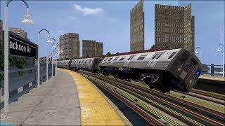 OpenBVE HD Troll: NYC Subway 100 MPH Tilting R68s On
