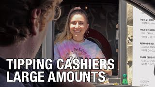 Tipping Cashiers Large Amounts