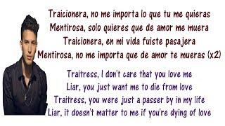 Sebastián Yatra - Traicionera Lyrics English and Spanish - Translations  Meaning - Letras en ingles