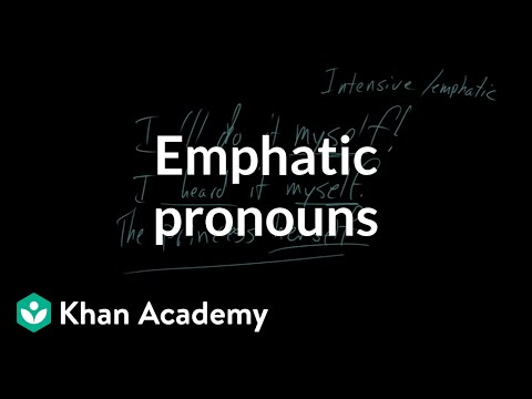 Emphatic pronouns video khan academy solutioingenieria Images