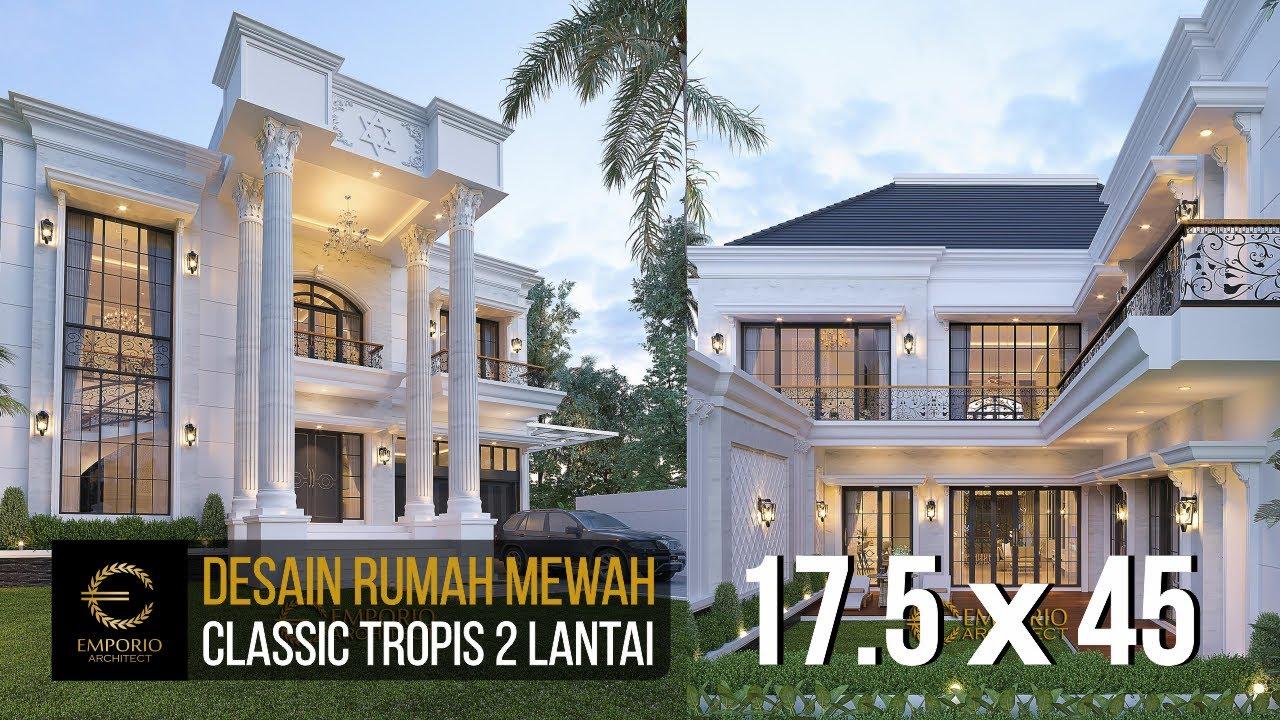 Video 3D Mrs. Rehuel Classic House 2 Floors Design - Papua