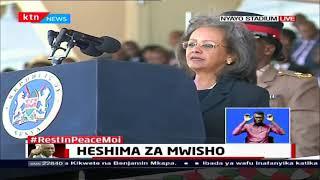 Sahle-Work (Ethiopia) pays tribute to Former President Moi