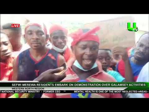 Sefwi Merewa Residents Embark On Demonstration Over Galamsey Activities