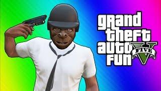 GTA 5 Online Funny Moments - Bullet Proof Helmet, Trolling Ohm, ATV Fun!
