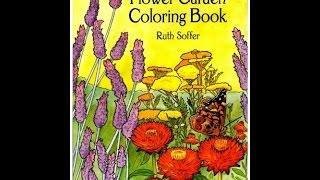 Flip Through Dover The Flower Garden Coloring Book