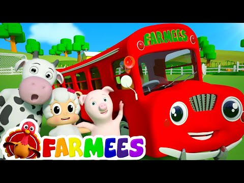 Wheels On The Bus Go Round And Round | 3D Nursery Rhyme Songs | Videos For Children