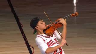 Giovanni Mazza (age 12) NBA Halftime Chicago Bulls v. Phoenix Suns 112817