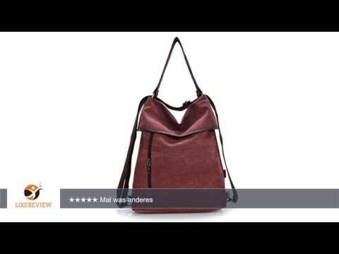 ERGEOB Damen Handtasche/ Schultertasche Weinrot | Erfahrungsbericht/Review/Test