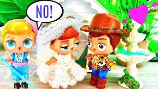 LOL Surprise Bo Peep Stops Woody from Marrying Gabby Gabby