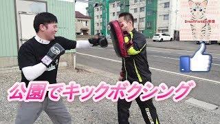 公園でキックボクシングダイエット新潟県新潟市