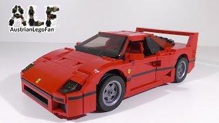 Lego Creator 10248 Ferrari F40 - Lego Speed Build Review
