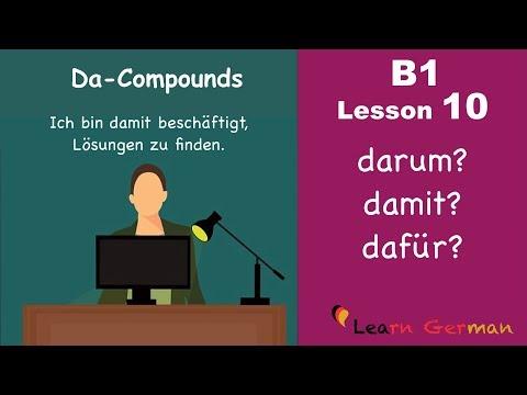 B1 Lesson 10 | Da-Komposita | Da-Compounds | Learn German Intermediate