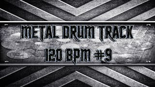 Groovy Nu Metal Drum Track 120 BPM (HQ,HD)