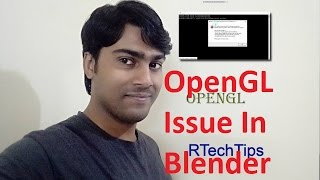 Blender -How to fix 3D hardware acceleration driver error (openGL)