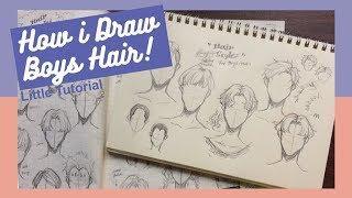 [Little Tutorial] How I Draw Hair | Boys/Males Edition男生頭髮怎麼畫!