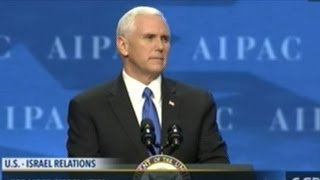 "Mike Pence ""Under President Trump The World Will Know! America Stands With Israel!"""