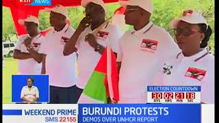 Burundi protests : CNDD-FD supporters protest against UNHCR report findings