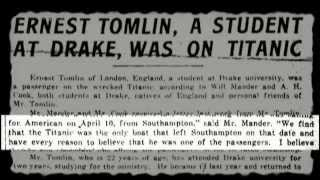 Des Moines Man Lost on the Titanic