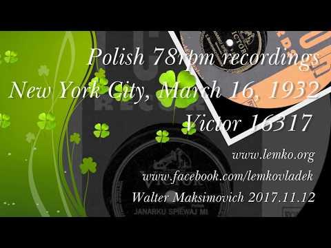 Polish 78rpm recordings, 1932. VICTOR V-16317. Kanarku śpiewaj mi.