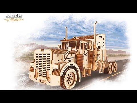 UGears Models 3-D Wooden Puzzle - Mechanical Heavy Boy Mac