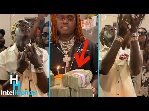 Gunna gives young thug 100k ? for his birthday ?
