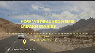 preview picture of video 'Beautiful Roadtrip from Leh to Hemis, Ladakh, Travelquartz Vlogs'