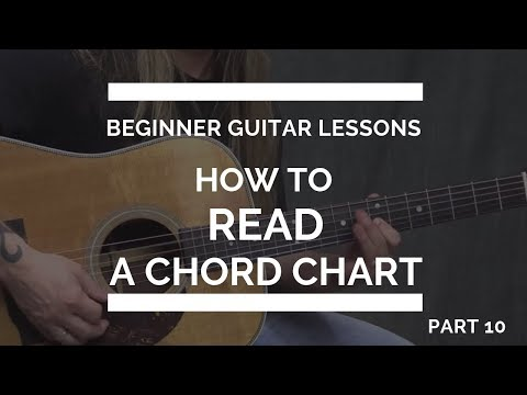 How to Read a Chord Chart for Guitar - Beginner Guitar Lesson #10
